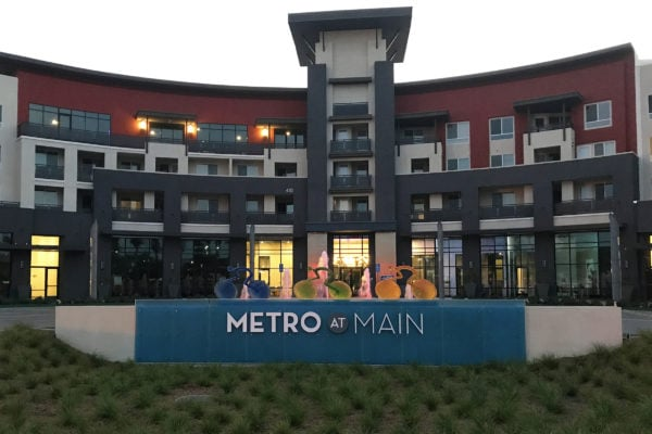 Metro at Main Sign by Brandex