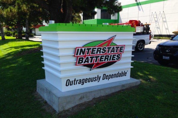 Interstate Batteries Monument Sign