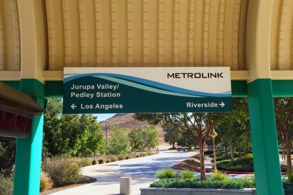 Metrolink panel sign
