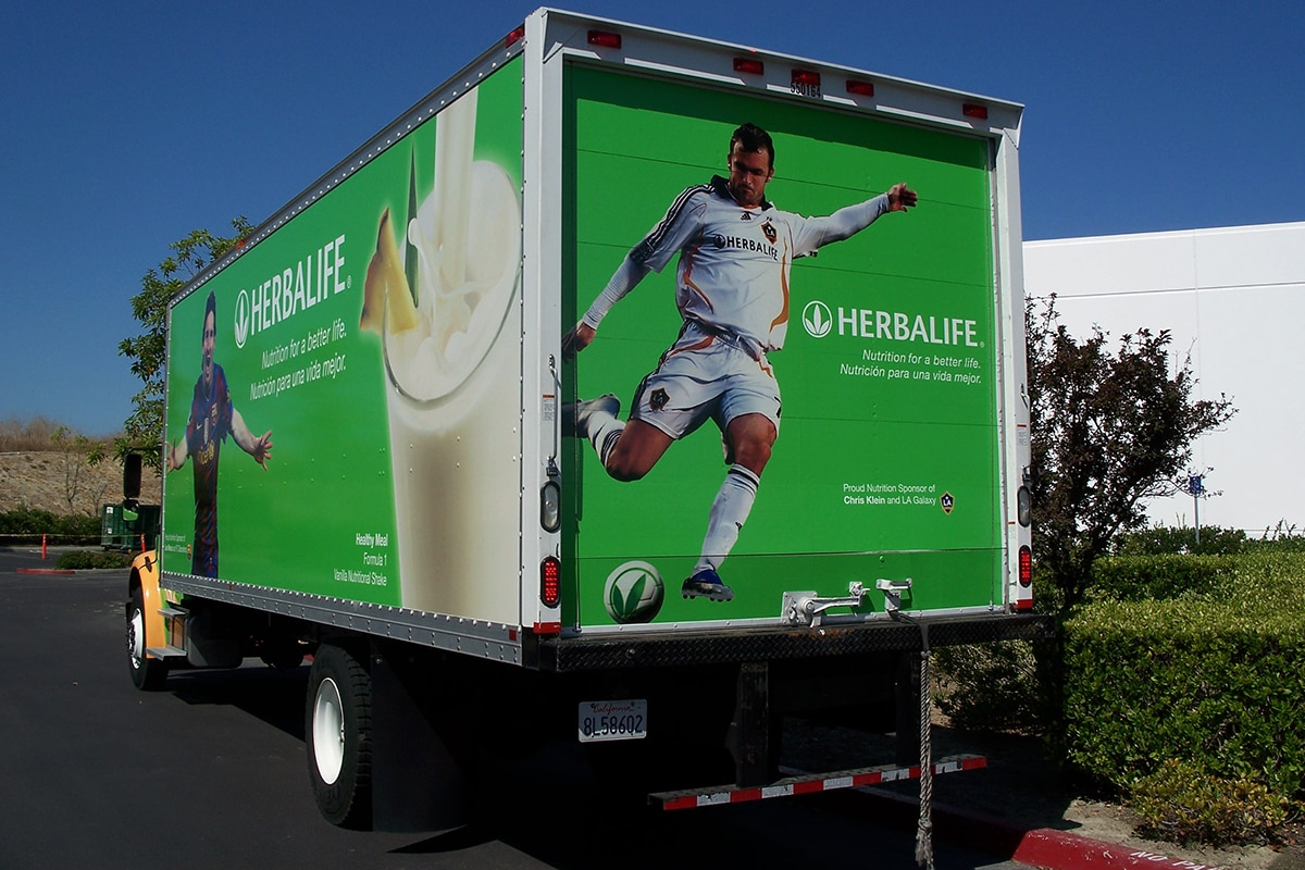 Truck with Branded Wrap