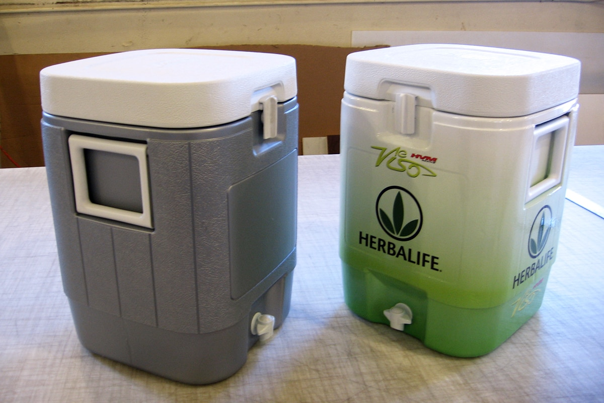 branded water container