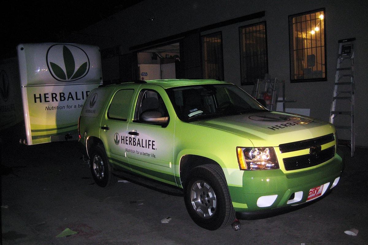 Herbalife's vehicle wrap