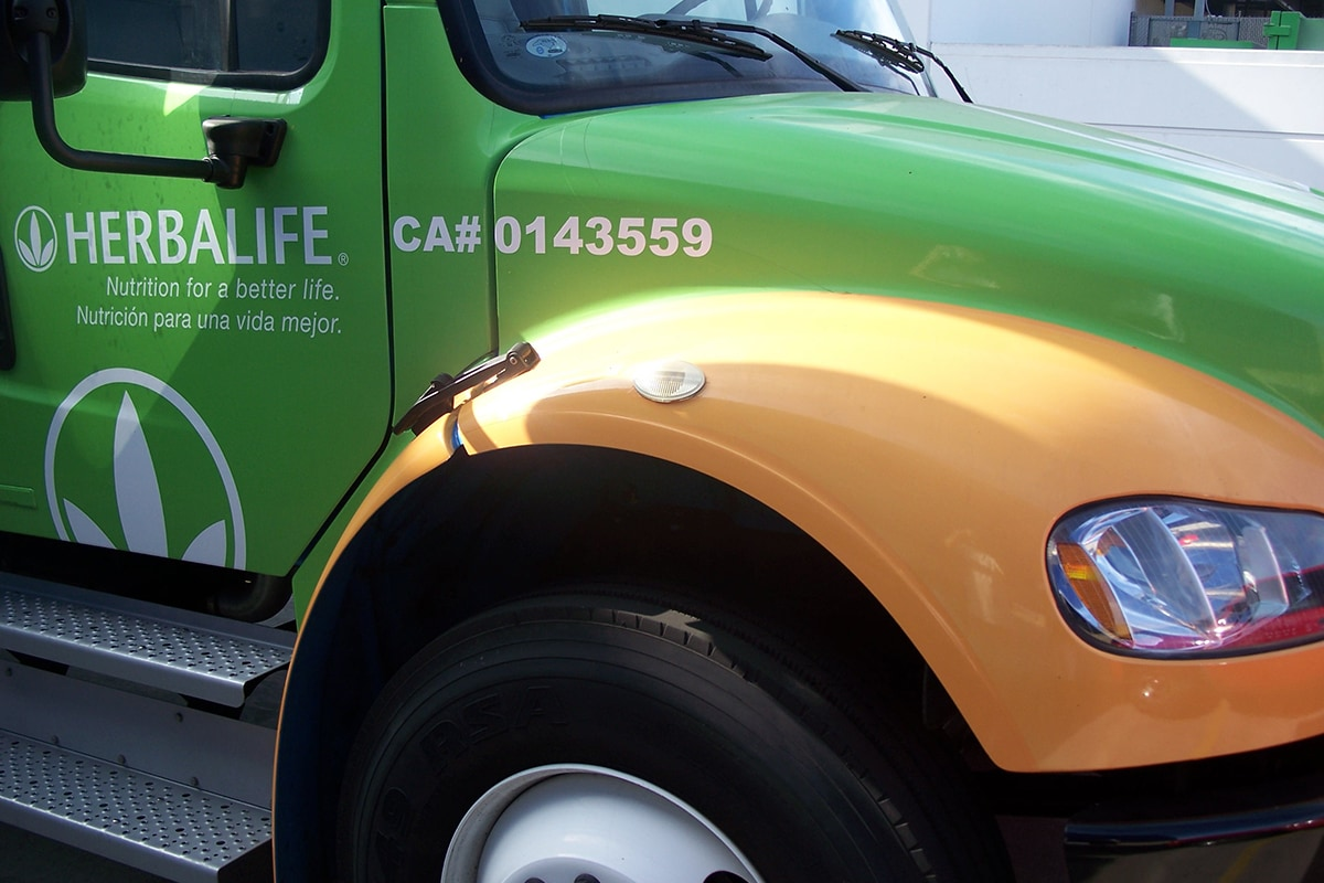Herbalife branded truck